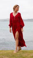 Aleida red dress 1 by CathleenTarawhiti