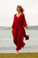 Aleida red dress 5 by CathleenTarawhiti