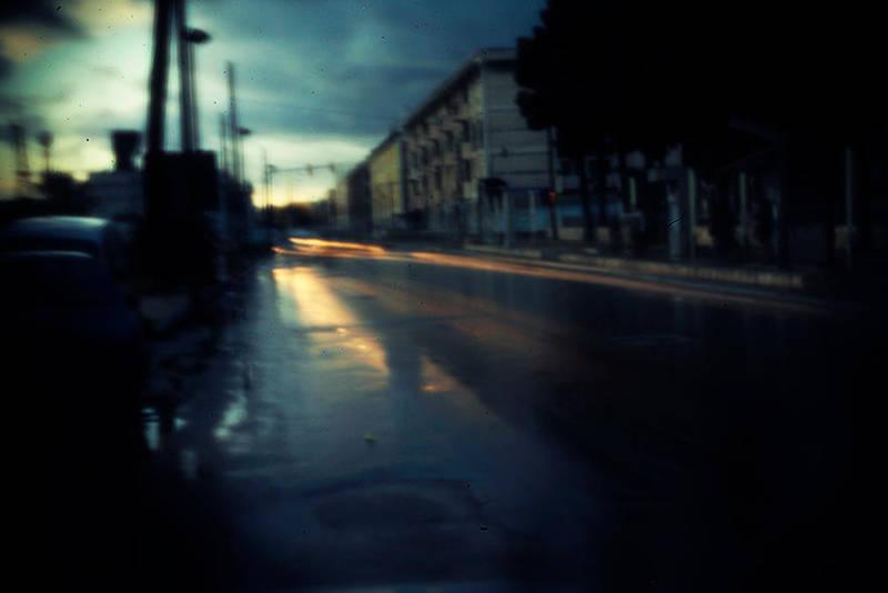 Wet road at dawn by DavideDeDomenico