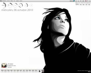 Girl blue eyes, clear desktop by Devuno