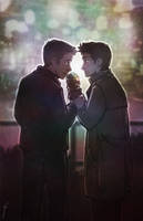 Ice Cream Destiel by JoannaJohnen