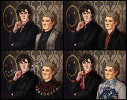 Sherlock Set and Omake by JoannaJohnen