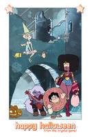 Steven Universe Halloween Card by JoannaJohnen