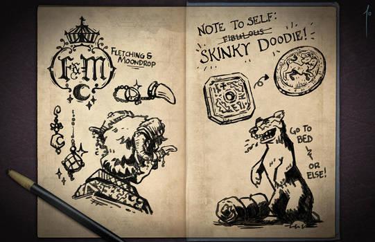 Jester's Sketchbook - spread 02 by JoannaJohnen