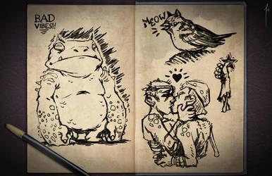 Jester's Sketchbook - spread 03 by JoannaJohnen