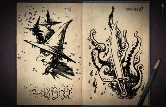 Jester's Sketchbook - spread 04 by JoannaJohnen