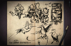Jester's Sketchbook - spread 08 by JoannaJohnen