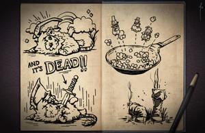Jester's Sketchbook - spread 10 by JoannaJohnen