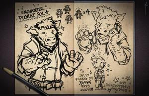 Jester's Sketchbook - spread 11 by JoannaJohnen