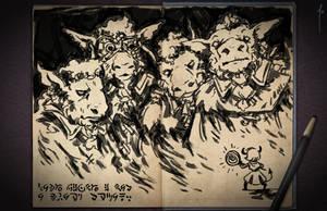 Jester's Sketchbook - spread 16 by JoannaJohnen