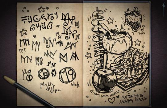 Jester's Sketchbook - spread 20 by JoannaJohnen