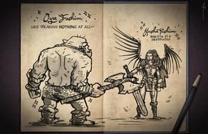 Jester's Sketchbook - spread 23 by JoannaJohnen