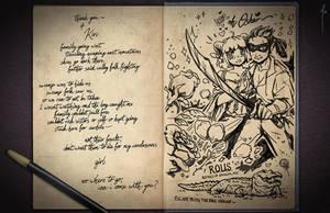 Jester's Sketchbook - spread 24 by JoannaJohnen