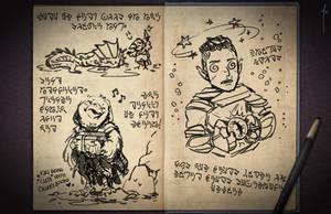 Jester's Sketchbook - spread 26 by JoannaJohnen