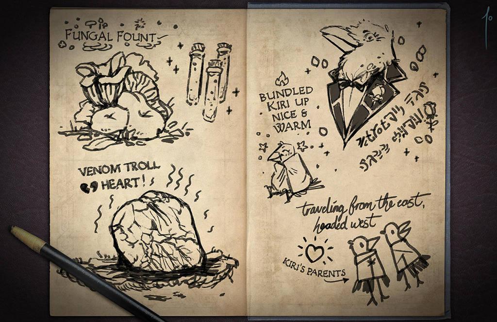 Jester's Sketchbook - spread 27 by JoannaJohnen