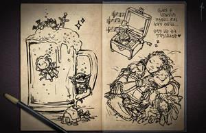 Jester's Sketchbook - spread 28 by JoannaJohnen