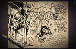 Jester's Sketchbook - spread 32 by JoannaJohnen