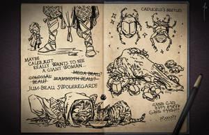 Jester's Sketchbook - spread 33 by JoannaJohnen