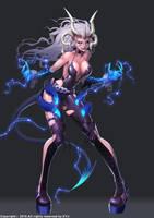 Lightning dragon Kali by Ta-bam