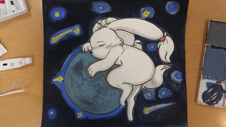Sleepy Moon by ShadowBunny89