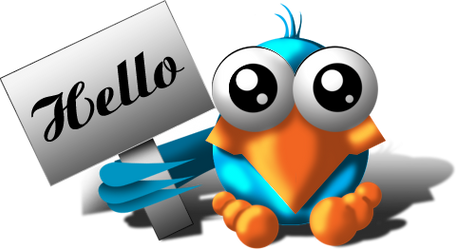 'Hello' twitter bird by theR3AP3R