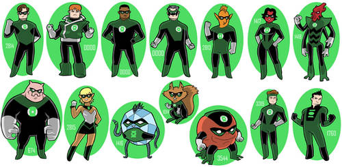 Green Lantern Corps Members by JoelRCarroll