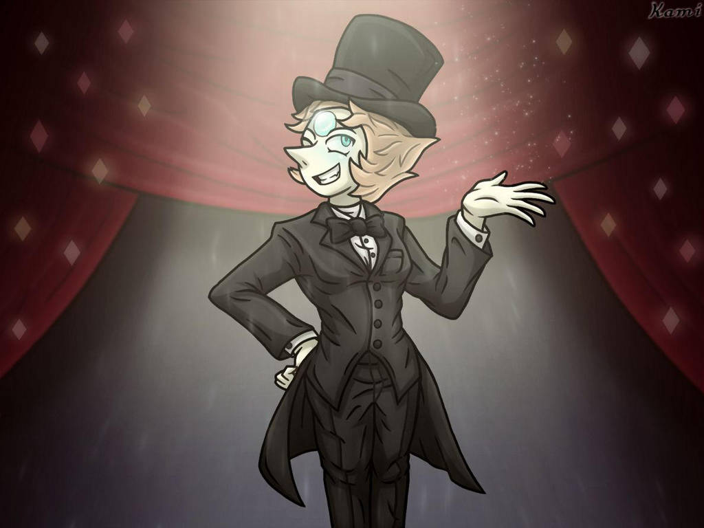 I need to lighten up and start drawing happier stuff again. So here's Pearl in a tuxedo from the musical number.