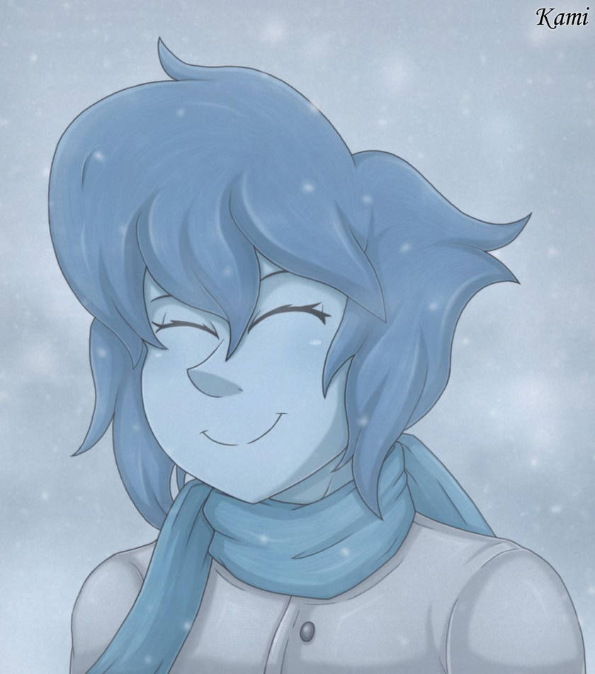 Here's a quick drawing of happy Lapis experiencing snow. ^v^