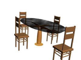 Table and 4 Chairs by Puck98