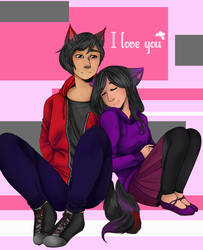 Aphmau and Aaron by TraedpoD