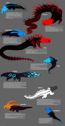 another set of my rain world lizards by GOD-LIKES-ME