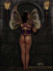 Fairy warrior watching castle by LFGProductions