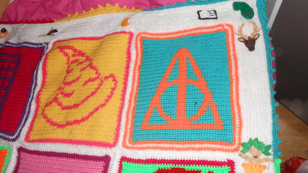 Hp pop art blanket top right by Maintje