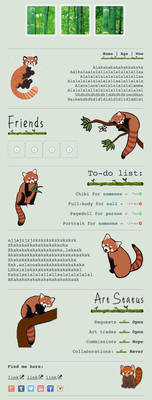 Red panda custombox by My-test-accountt