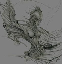 unfinished mermaid by EZINKSMITH