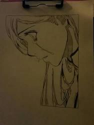 Crying girl by Beglinda