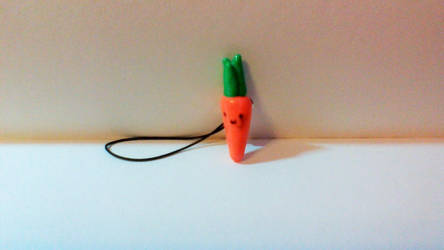 Kawaii carrot phone charm by TotallyUnspoken