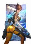Tracer : Overwatch Fanart by NeoArtCorE