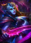 Dota2 Vengeful Spirit Fanart by NeoArtCorE