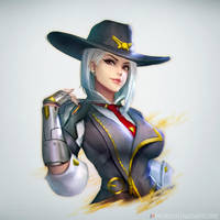 Ashe : Overwatch by NeoArtCorE