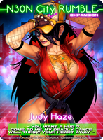NEON CITY RUMBLE Judy Haze card by Darkdux