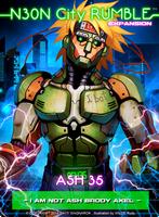 NEON CITY RUMBLE Ash 35 card by Darkdux