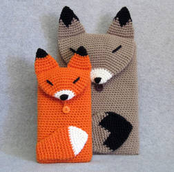Fox Tablet Covers by NerdyKnitterDesigns