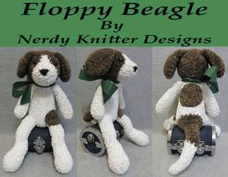 Floppy Beagle by NerdyKnitterDesigns
