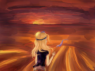 In the desert by Noxivis