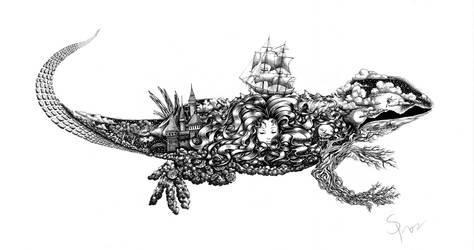 Dream Lizard by Ink-River