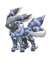 Mega Umbreon ~ Shiny Version by godzilla1030