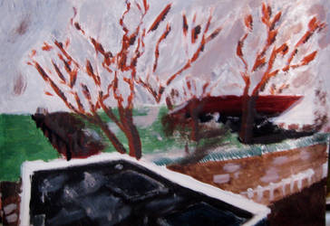 Dutch winter landscape by blankmediation