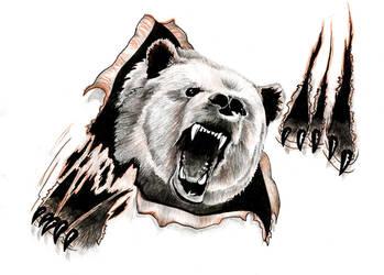 Bear design by ReedmooleyTattoos