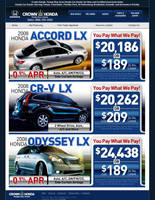 Crown Honda - New Car Specials by xstortionist
